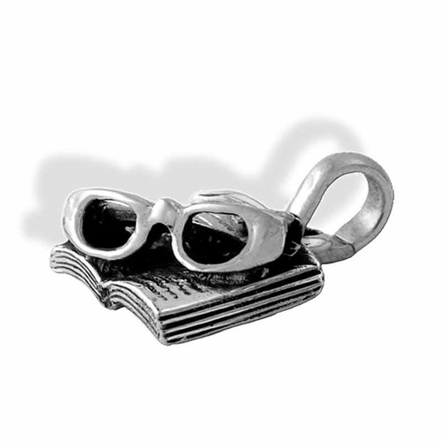 Book and Glasses Charm