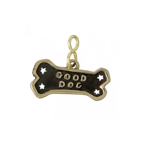 Good Dog Bone ID Tag Brass