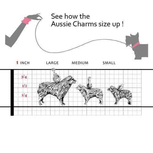 Australian Shepherd Large Charm