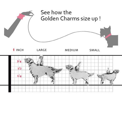 Golden Retriever Large Charm