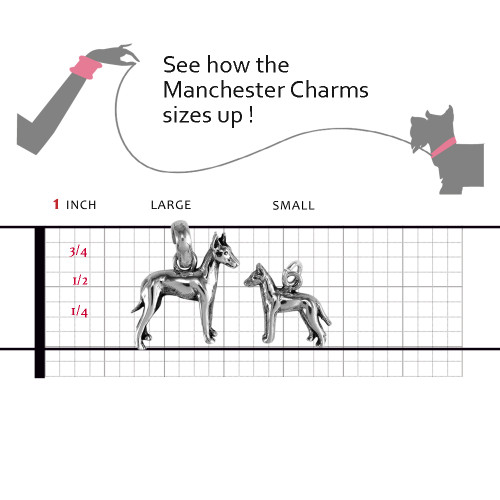 Manchester Terrier Large Charm