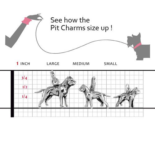 Pit Bull Large Charm