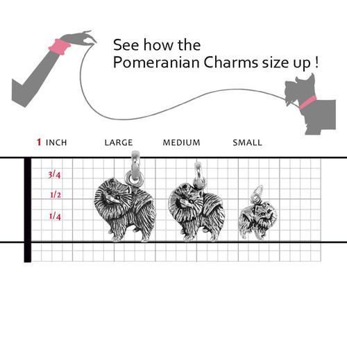 Pomeranian Large Charm