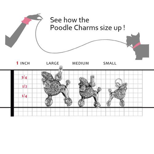 Poodle Show Cut Large Charm