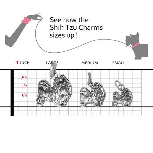 Shih Tzu Large Charm