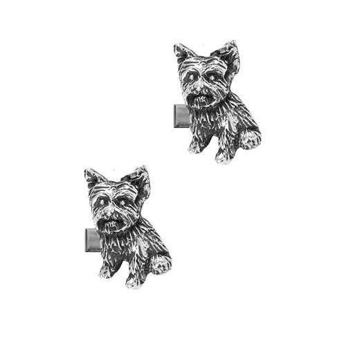 Yorkie Puppy Cufflinks