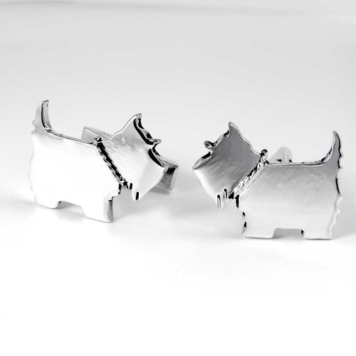 Dog Breed Cufflinks, sterling silver, 147 breeds