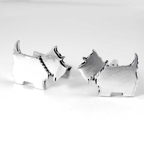 Dog Breed Cufflinks, sterling silver, 147 breeds