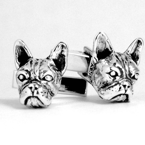 French Bulldog Head Cufflinks