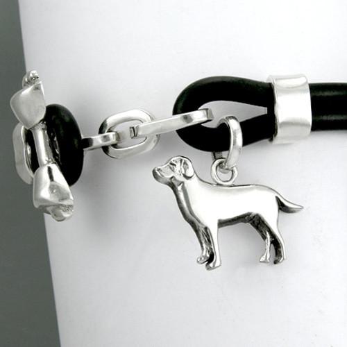 Bone Toggle Bracelet with Medium Labrador