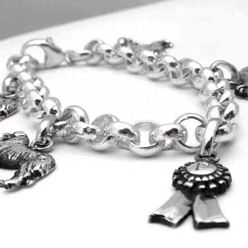 Rolo Dog Charm Bracelet