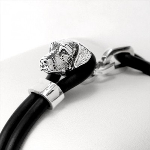 Labrador Silver and Rubber Bracelet