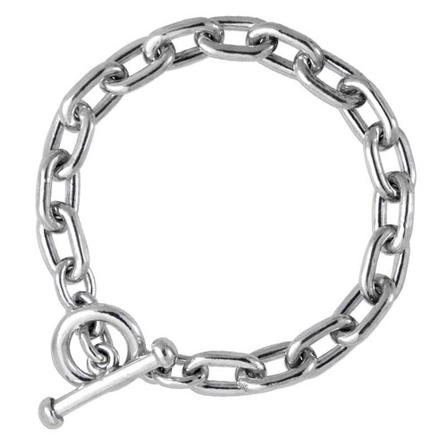 The original Smooth Silver Link Bracelet