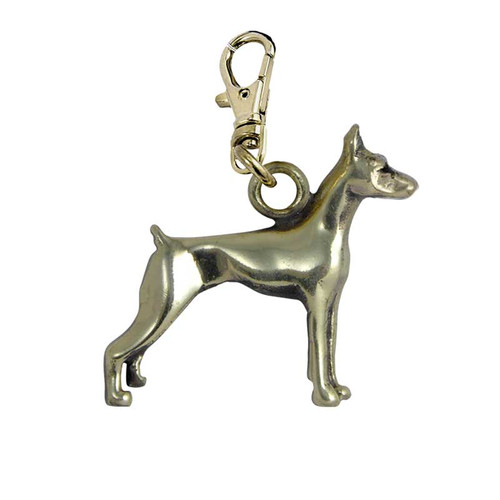Doberman Pinscher Brass Zipper Pull