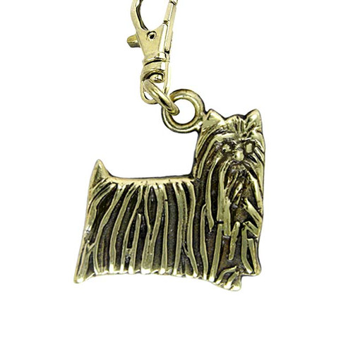 Yorkie Brass Zipper Pull