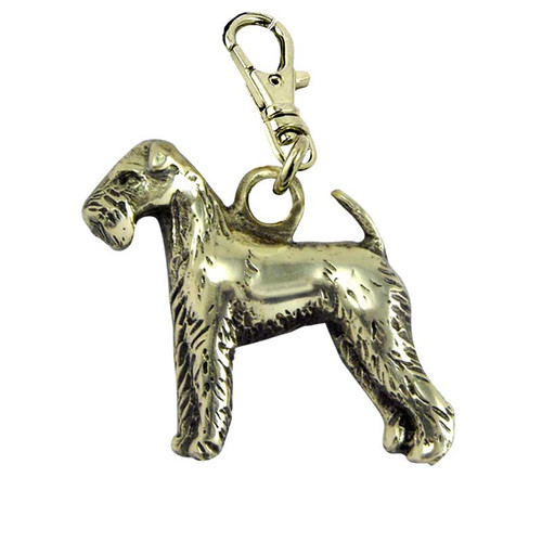 Lakeland Terrier Brass Zipper Pull