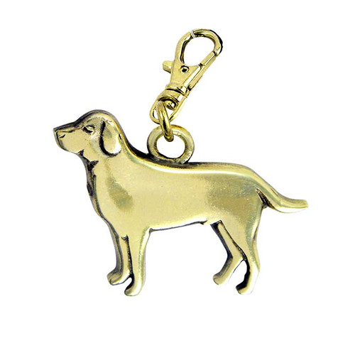 Labrador Retriever Brass Zipper Pull