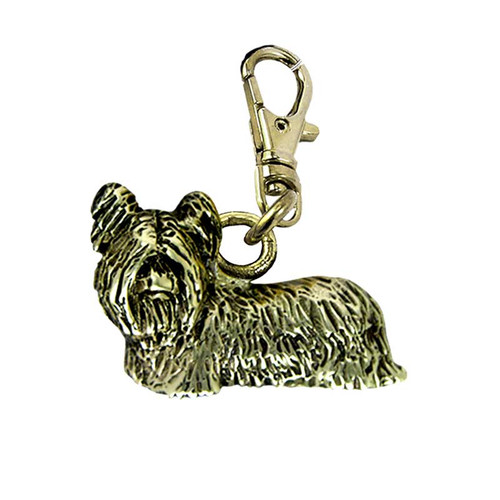 Skye Terrier Brass Zipper Pull