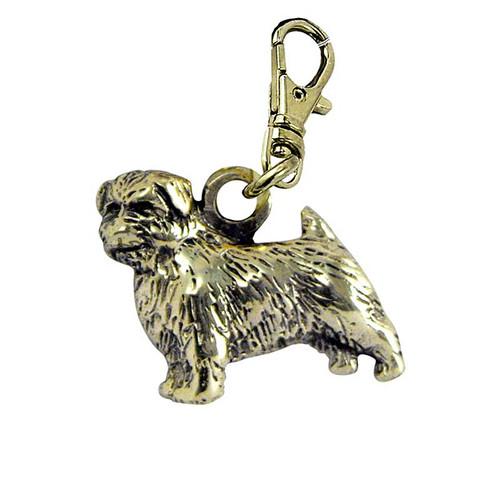 Norfolk Terrier Brass Zipper Pull