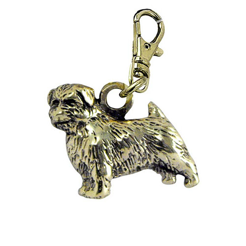 Norfolk Terrier Brass Zipper Pull