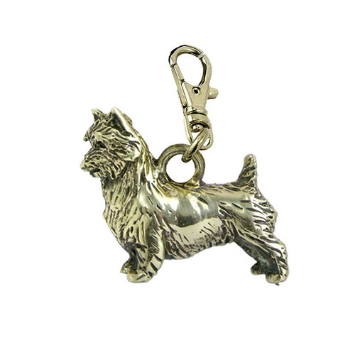 Australian Terrier Brass Zipper Pull