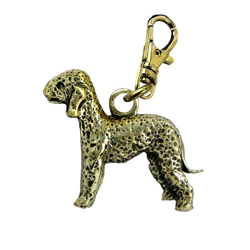Bedlington Terrier Brass Zipper Pull