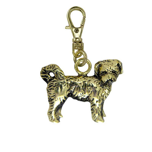 Tibetan Terrier Brass Zipper Pull