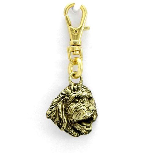 Goldendoodle Head Zipper Pull Brass