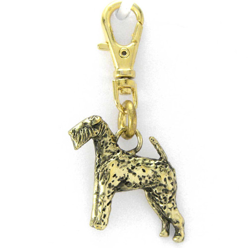 Airedale Terrier Brass Zipper Pull