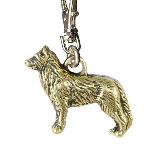 Australian Cattle Dog Brass Zipper Pull