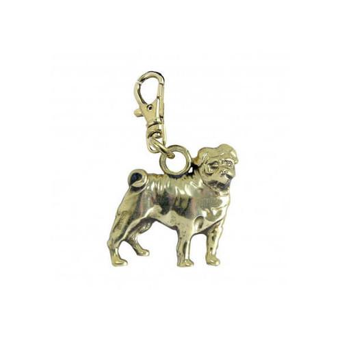 Pug Brass Zipper Pull