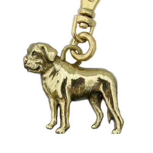 Mastiff Zipper Pull Brass