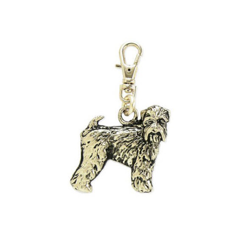 Wheaten Terrier Brass Zipper Pull New