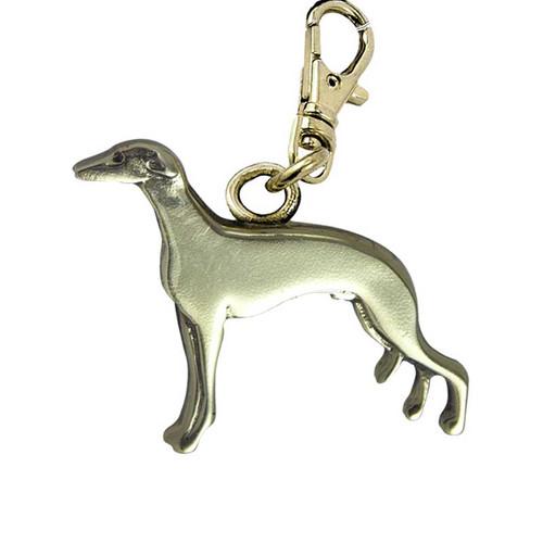 Greyhound Brass Zipper Pull