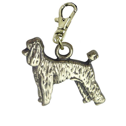 Poodle Puppy Brass Zipper Pull