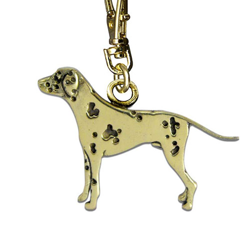 Dalmatian Brass Zipper Pull