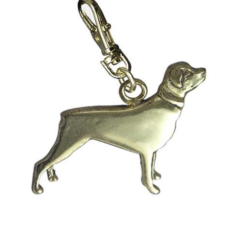 Rottweiler Brass Zipper Pull