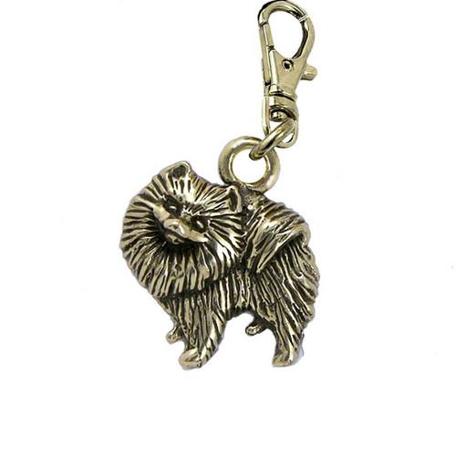 Pomeranian Brass Zipper Pull