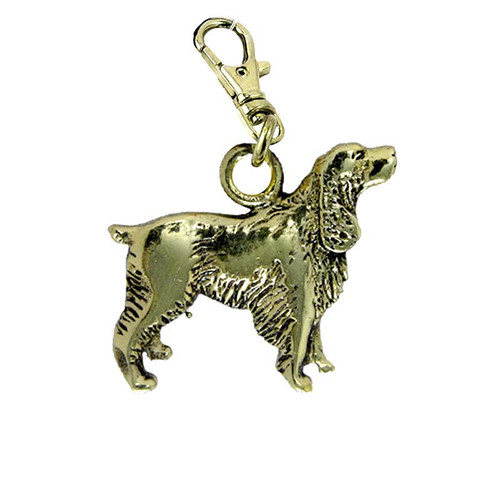 Springer Spaniel Brass Zipper Pull