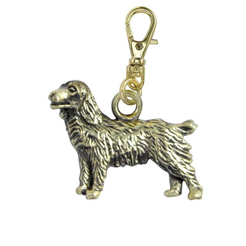 Field Spaniel Brass Zipper Pull