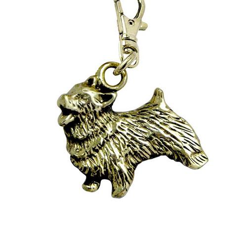 Norwich Terrier Brass Zipper Pull