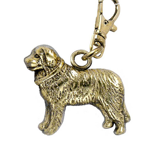 Bernese Mountain Dog Brass Zipper Pull