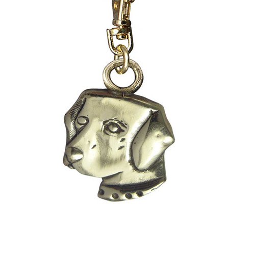 Labrador Head Brass Zipper Pull