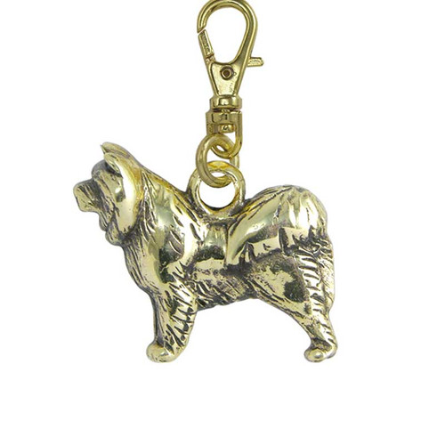 Chow Chow Brass Zipper Pull