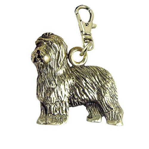 Old English Sheepdog Brass Zipper Pull