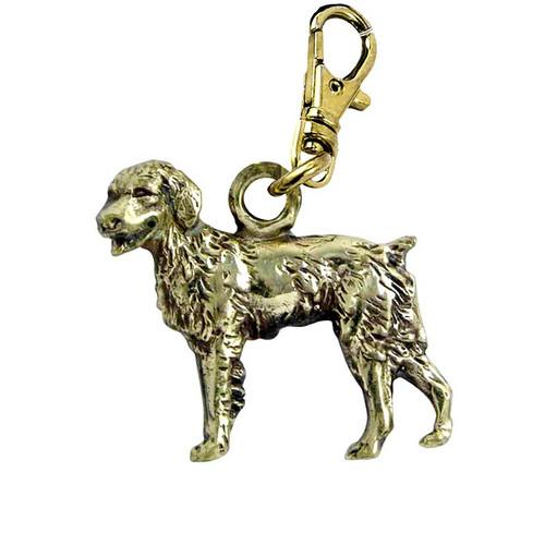 Brittany Spaniel Brass Zipper Pull