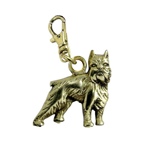 Brussels Griffon Brass Zipper Pull