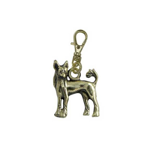Chinese Crested Brass Zipper Pull