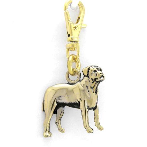 Bull Mastiff Zipper Pull Brass
