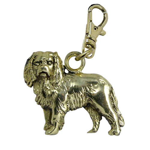 Cavalier King Charles Brass Zipper Pull